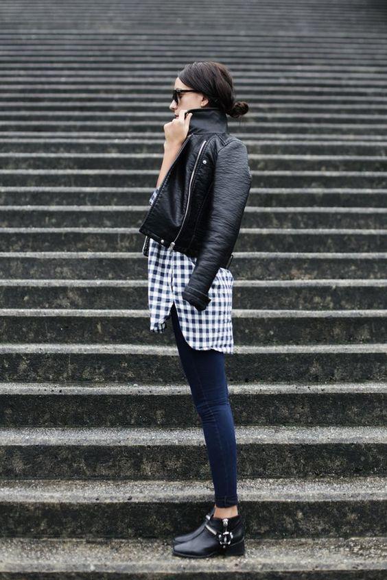 outfit de lluvia con chaqueta