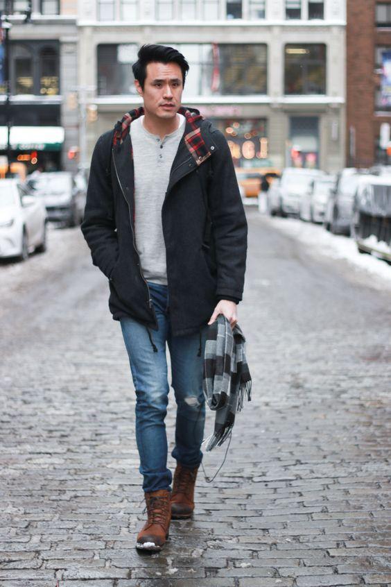 outfit de lluvia para hombre