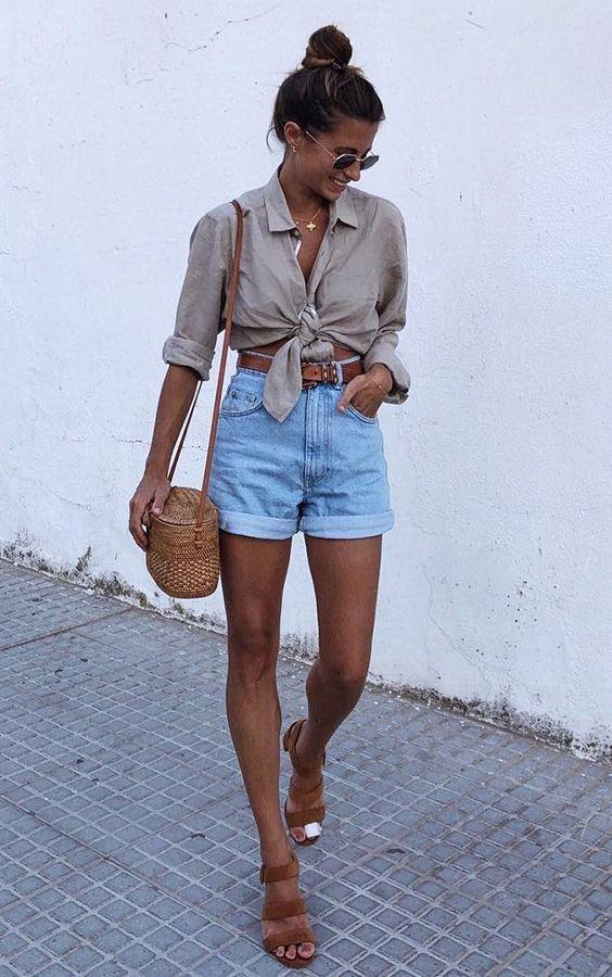 outfit de short de jean