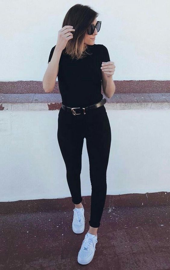 outfit negro casual