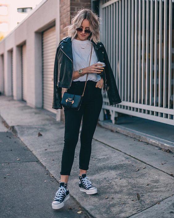 outfit rockero con converse