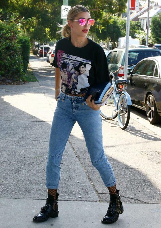outfit rockero con medias