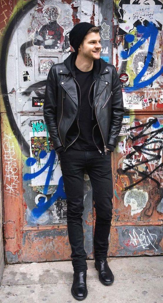 outfit rockero hombre