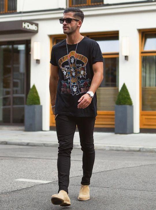 outfit rockero para hombre