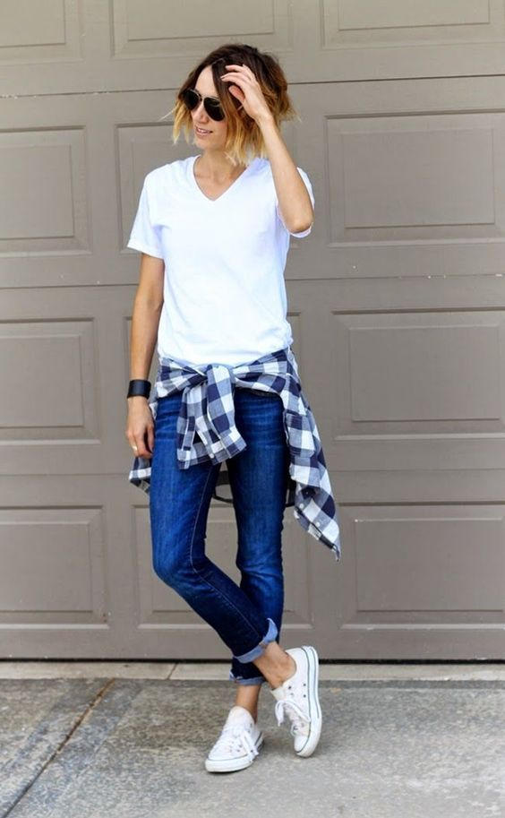 outfit sencillo con converse