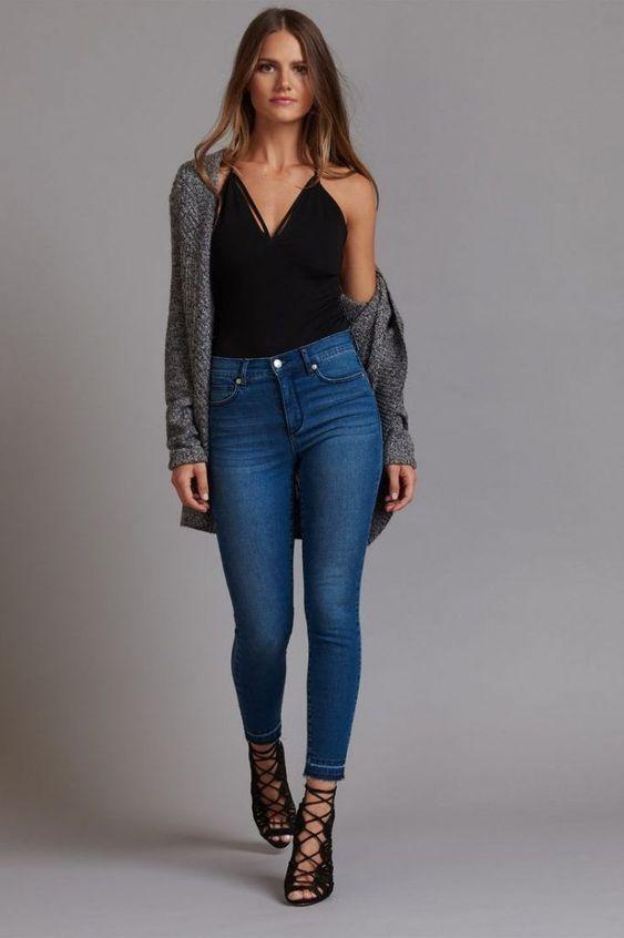 outfits con jean para la noche