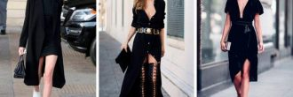 Outfit vestido negro